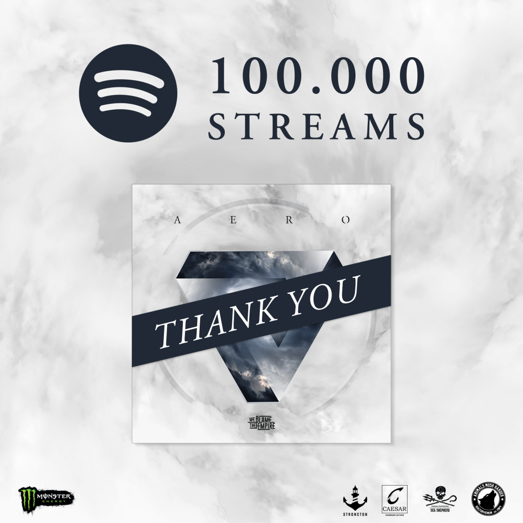 We blame the empire 100.000 streams auf spotify