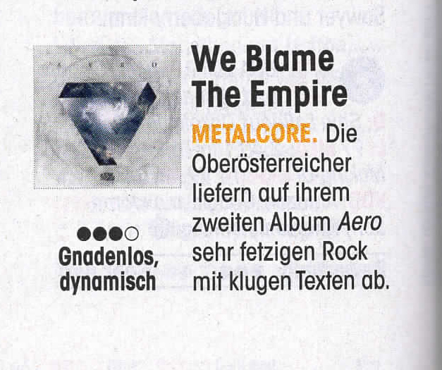 We blame the Empire - Metalcore from Austria Vöcklabruck