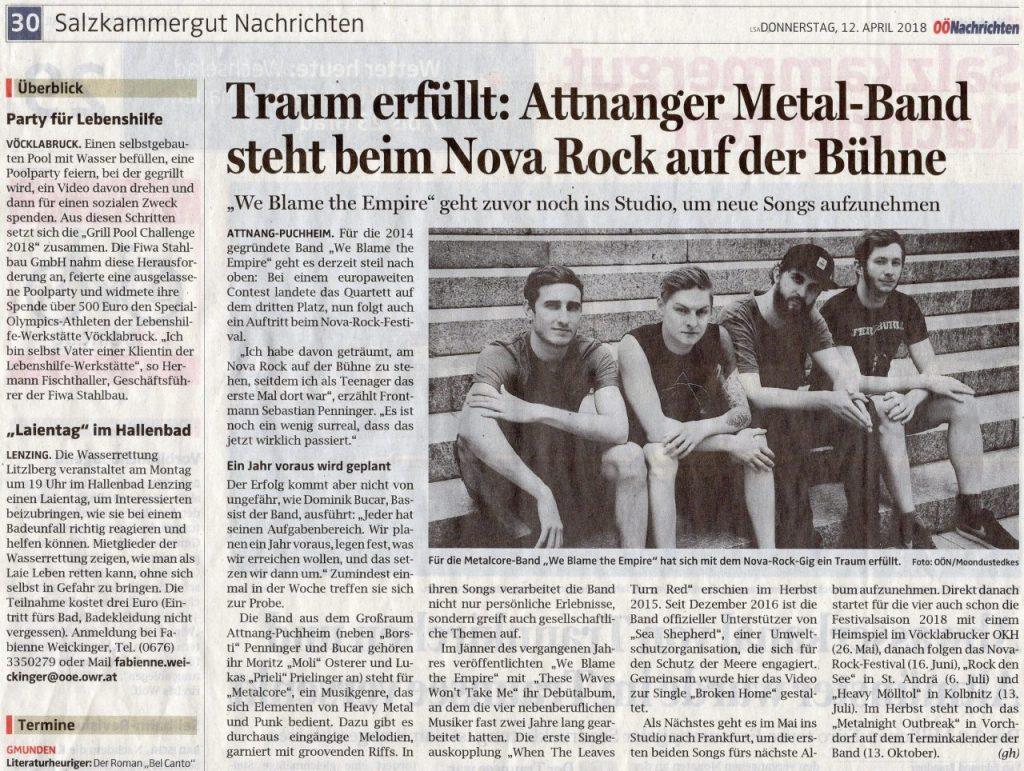 We blame the Empire - Metalcore from Austria Vöcklabruck